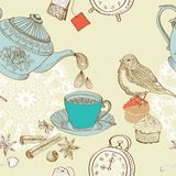 Vintage morning tea background Royalty Free Stock Image