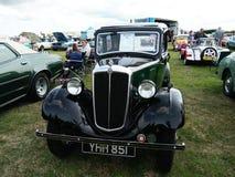 Vintage car showing outdoor. Morris car. Vintage Morris car show outdoor at Northumberland Wings stock photos
