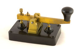 Vintage Morse Key. Manufactured by Clipsal royalty free stock photography