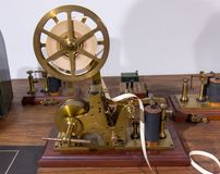 Vintage morse telegraph machine Stock Photos