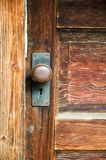 Vintage mortise lockset Royalty Free Stock Images