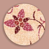 Vintage Mosaic Flower Royalty Free Stock Images