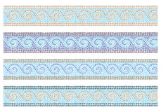 Vintage mosaic seamless border Stock Image