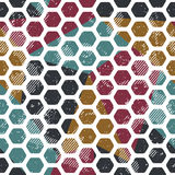 Vintage mosaic seamless pattern. Grunge effect Stock Photos