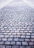 Vintage Moscow brick stone pavement background. Hd Stock Photography