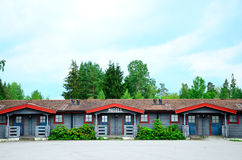 Vintage motel. Old woody motel close to highway in Sweden Royalty Free Stock Photography