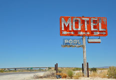 Vintage Motel Sign. Near an interstate in Arizona Royalty Free Stock Photos