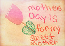 Vintage Mothers Day Card Stock Photos