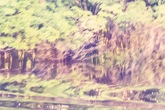 Vintage motion blurred nature background Royalty Free Stock Images