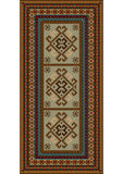 Vintage motley carpet with ethnic ornaments and beige color on the center Royalty Free Stock Photos