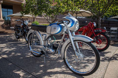 Vintage motocycle. Picture taken at the blackhawk cars and coffee  2015 ,   in Danville California by Luigi Dionisio Royalty Free Stock Image