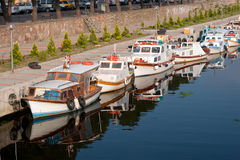 Vintage motor boats Royalty Free Stock Photography