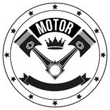 Vintage Motor Club Signs and Label Royalty Free Stock Photo