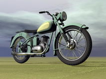 Vintage motorbike - 3D render Stock Photography