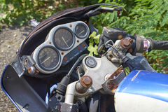 Vintage motorbike Stock Photography