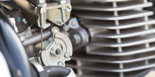 Vintage motorbike engine detail Stock Images
