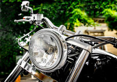 Vintage Motorbike Headlight Stock Photography