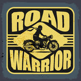 Vintage Motorbike label Royalty Free Stock Photography