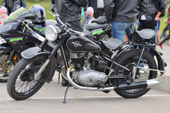 Vintage motorbike in a parking Royalty Free Stock Photos