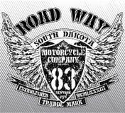 Vintage Motorbike Race Hand drawing T-shirt Printing Stock Photo