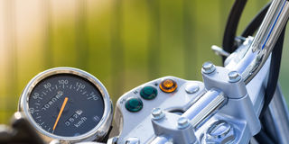 Vintage motorbike speedometer detail Royalty Free Stock Photos