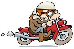 Vintage motorbiker Stock Images