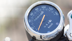 Vintage motorbile speedometer detail royalty free stock photo