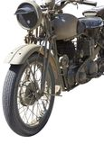 Vintage Motorcycle Stock Image