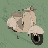 Vintage motorcycle. Illustration - A vector vintage motorcycle Stock Image