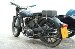 Vintage motorcycle. Old british motorcycle royalty free stock images