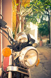 Vintage motorcycle in Athens, Greece Stock Images