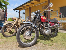 Vintage motorcycle BSA Spitfire 650 Stock Photos