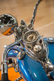 Vintage motorcycle. Close up of a beautiful vintage motorcycle with s Royalty Free Stock Image