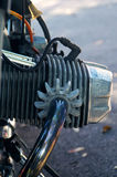 Vintage motorcycle cylinder Royalty Free Stock Image