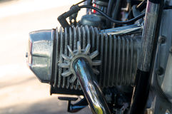 Vintage motorcycle cylinder head Stock Images