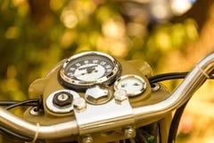 Vintage motorcycle dashboard Stock Photo