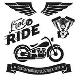 Vintage motorcycle design Stock Images