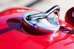 Vintage motorcycle detail tank Stock Photography