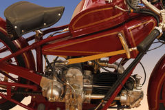 Vintage motorcycle engine. Engine of classic red 1929 Motto Guzzi motorcycle Stock Photography