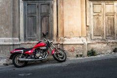 Vintage motorcycle grunge wall Stock Image