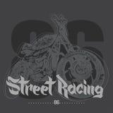 Vintage Motorcycle hand drawn street racing Royalty Free Stock Photos