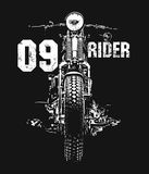 Vintage Motorcycle hand drawn vector t-shirt Stock Images