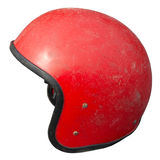 Vintage motorcycle helmet Stock Photos