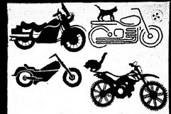 Vintage Motorcycle illustrations Stock Photography