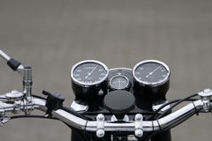 Vintage motorcycle instruments Royalty Free Stock Image
