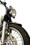 Vintage Motorcycle isolated background and clippingpath Stock Photography