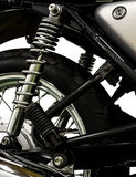 Vintage Motorcycle isolated background Royalty Free Stock Photography
