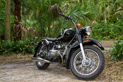 Vintage motorcycle in jungle Stock Images
