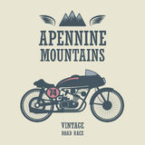 Vintage Motorcycle label Royalty Free Stock Images