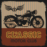 Vintage Motorcycle label Royalty Free Stock Photos